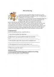 English Worksheets: The Greedy Dog