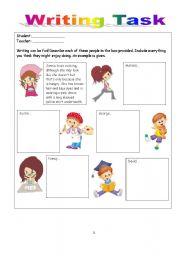 Writing Task - Describing People