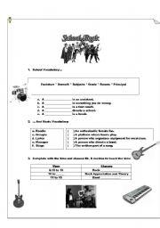 English Worksheets: SCHOOL OF ROCK