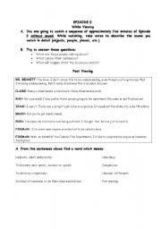 English Worksheet: Tv serial