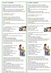 English Worksheet: Song: I´m yours - Jason Mraz