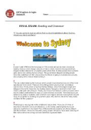English Worksheets: Reading Comprehension and Grammar