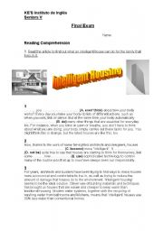 English Worksheets: Reading Comprehension and Grammar 2