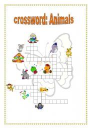 English Worksheets: crossword: animal