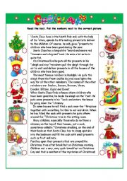English Worksheet: Christmas I part