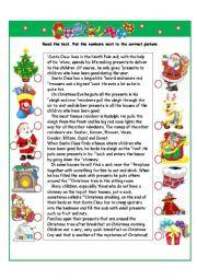 English Worksheets: Christmas I part