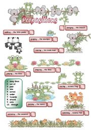 English Worksheet: Prepositions of movement