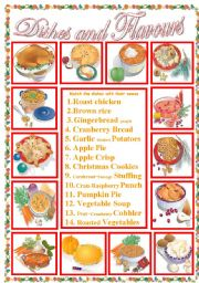 English Worksheets: Culture : Dishes and Flavours