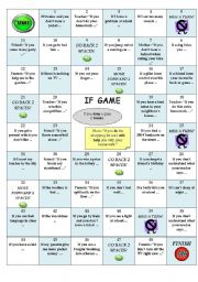 English Worksheet: IF GAME