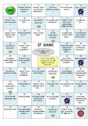 English Worksheet: IF GAME