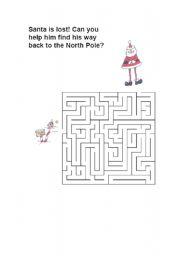 English Worksheets: labyrinth