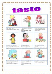 English Worksheet: tastes