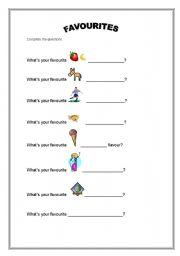 English Worksheets: What�s your favourite..?