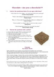 English Worksheets: Chocolate - are you a chocoholic?