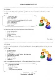 role plays examples interview essays