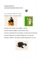 English Worksheets: my book of animals