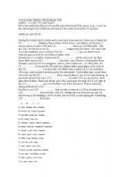 English Worksheet: use of english first certificate with key