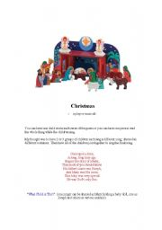 English Worksheet: christmas story