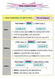 English Worksheet: Conjunctions of time(after - before - while - since - when - until