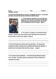 English Worksheets: The Bully -Simile Practice