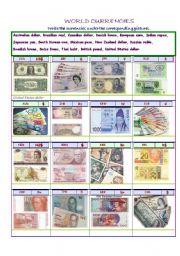 English Worksheets: world currencies