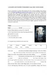 English Worksheets: THE CORPSE BRIDE