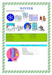 English Worksheet: WINTER                 weather and clothes