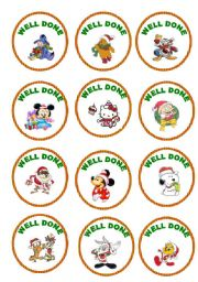 English Worksheet: stickers for your young learners