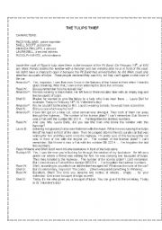 English Worksheets: THE TULIPS THIEF