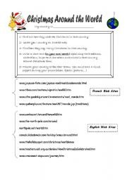 Christmas Around The World Worksheets.Christmas Around The World Part1 Esl Worksheet By Marie