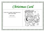 English Worksheet: Making a Christmas Card 2