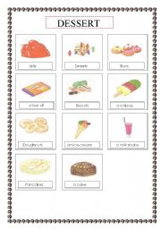 worksheet food dessert voc list