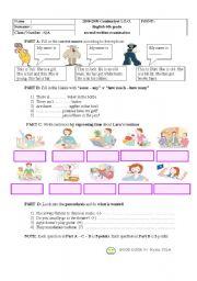 English Worksheets: 6th graders examination