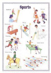 sports voc list esl worksheet by barbie77. Black Bedroom Furniture Sets. Home Design Ideas