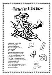 english teaching worksheets winter. Black Bedroom Furniture Sets. Home Design Ideas