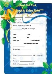 JINGLE  BELL  ROCK   -   Worksheet