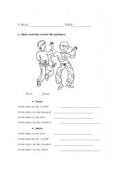 English Worksheets: Description