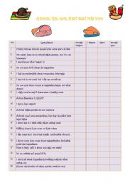 English Worksheets: Are you Vegetarian?