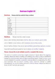 English Worksheets: Business English 3.