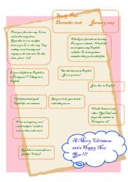 English Worksheets: Study plan - December 2008 - January 2009