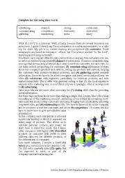 MARKETING VOCABULARY JOBS - KEYS