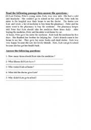 English Worksheets: Kate