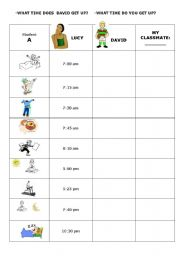 English Worksheet: DAILY ROUTINES. SPEAKING.