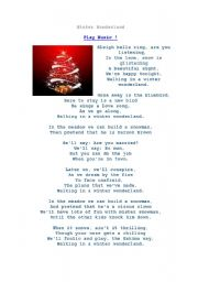 English worksheet: CHRISTMAS SONGS - traditional ones