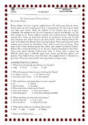 English Worksheets: PERCY ADAMS
