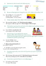 English worksheet: questions