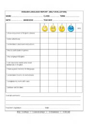 English Worksheets: Self Evaluation