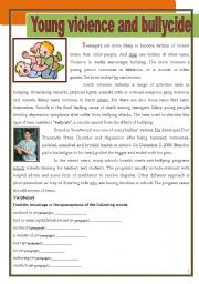 English Worksheet: Young violence and