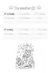 Handwriting: The weather (2)