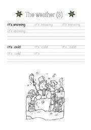 English Worksheet: Handwriting: The weather (3)